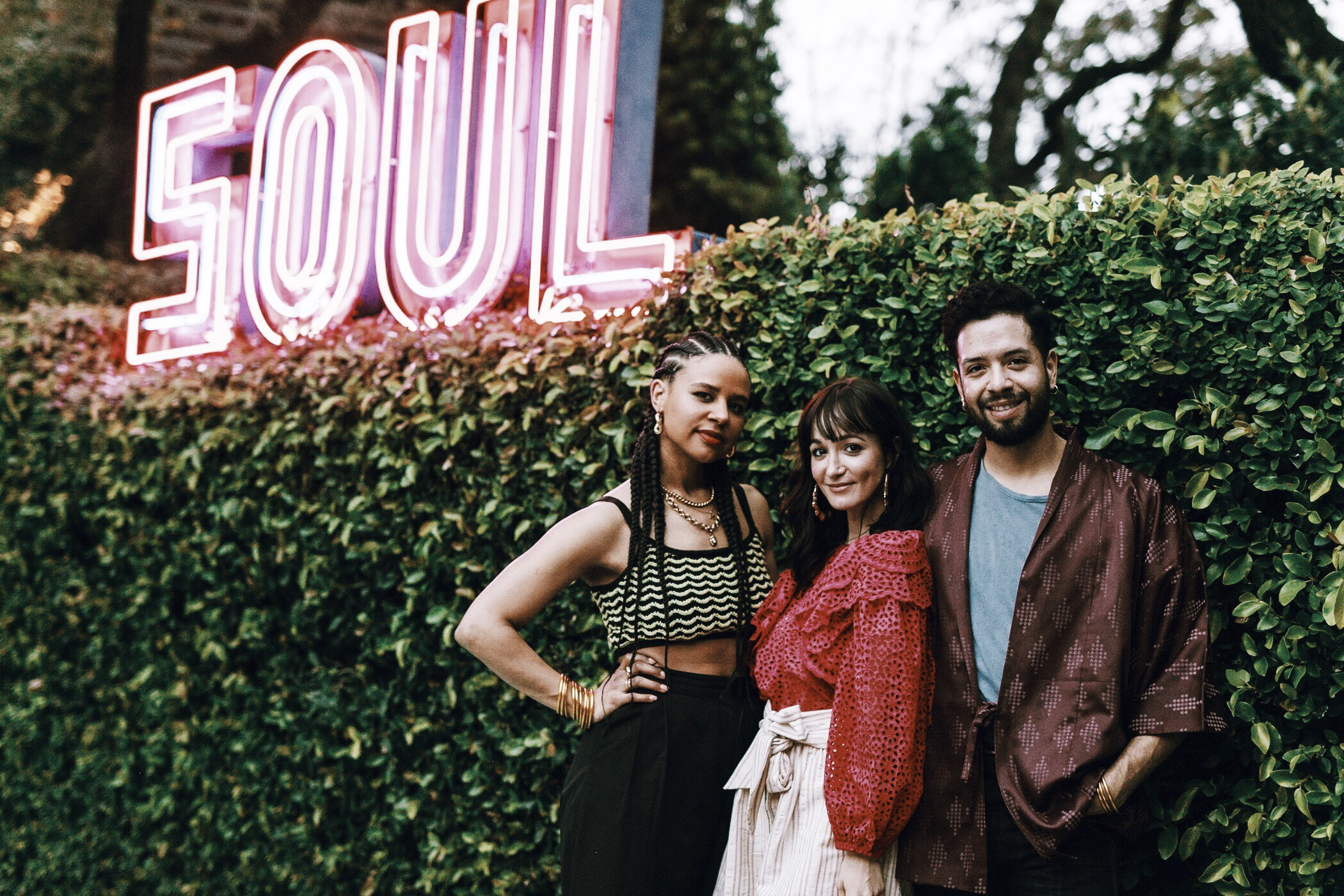 With Taylor of The Simple Sol and Patricio of Twelve Thirty Four Flowers at the Hotel St. Cecilia Soul Pool the first night we arrived.